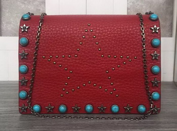 Valentino Garavani Starstudded Shoulder Bag VT19614 Burgundy