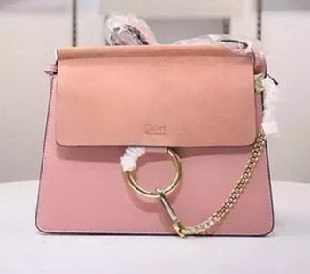 CHLOE Faye Shoulder Bag Suede Leather C1626 Pink