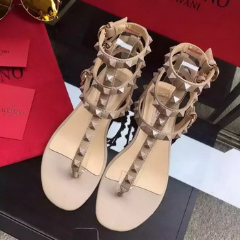 Valentino Leather Sandal VT843 Apricot