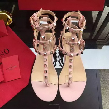 Valentino Leather Sandal VT843 Pink