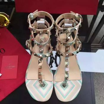 Valentino Leather Sandal VT849 Green