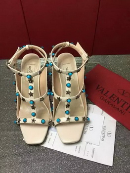 Valentino Leather Sandal VT858 Apricot