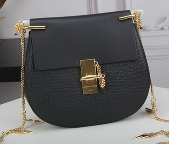 CHLOE Drew Small Shoulder Bag Calfskin Leather C83031 Black