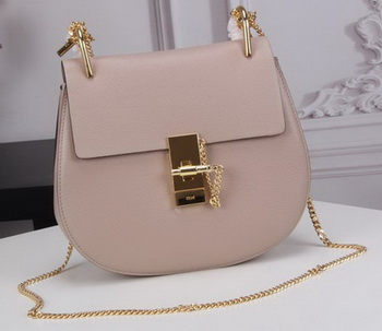 CHLOE Drew Small Shoulder Bag Goat Leather C83031 Light Pink