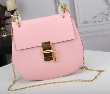 CHLOE Drew Small Shoulder Bag Goat Leather C83031 Pink