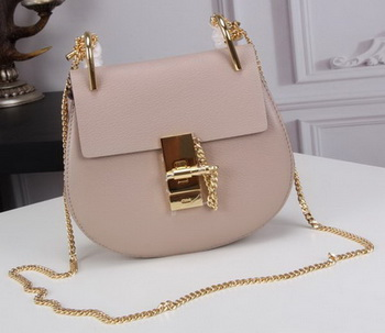 CHLOE Drew mini Shoulder Bag Calfskin Leather C83024 Light Pink