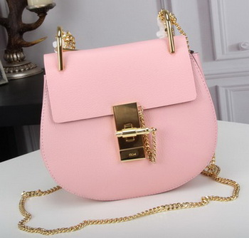 CHLOE Drew mini Shoulder Bag Calfskin Leather C83024 Pink