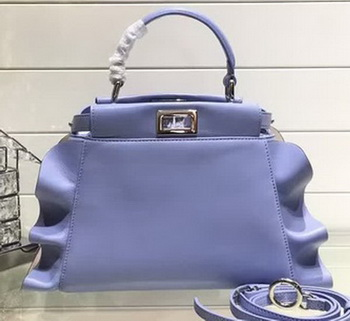 Fendi Fashion Show mini Peekaboo Bags Original Leather FD244 Blue
