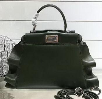 Fendi Fashion Show mini Peekaboo Bags Original Leather FD244 Green