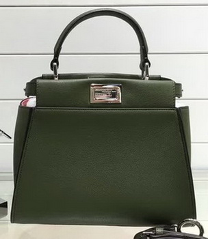 Fendi mini Peekaboo Bags Original Leather FD0706 Green