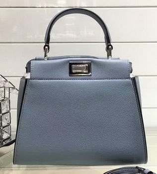 Fendi mini Peekaboo Bags Original Leather FD0706 SkyBlue