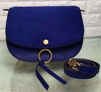 CHLOE Mini Kurtis Bag Suede Calfskin 66048 Blue