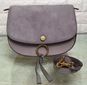 CHLOE Mini Kurtis Bag Suede Calfskin 66048 Grey
