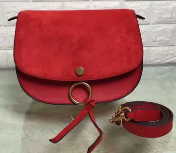 CHLOE Mini Kurtis Bag Suede Calfskin 66048 Red