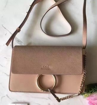 CHLOE Faye Shoulder Bag Suede Leather C3379 Pink