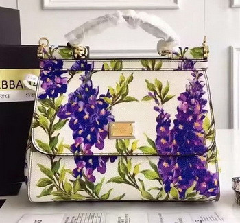 Dolce & Gabbana SICILY Lace Tote Bag BB5521D Purple