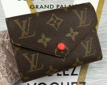 Louis Vuitton Monogram Canvas Victorine Wallet M62360 Red