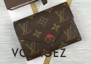 Louis Vuitton Monogram Canvas Victorine Wallet M62360 Wine