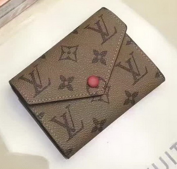 Louis Vuitton Victorine Wallet Monogram Canvas M62360 Red