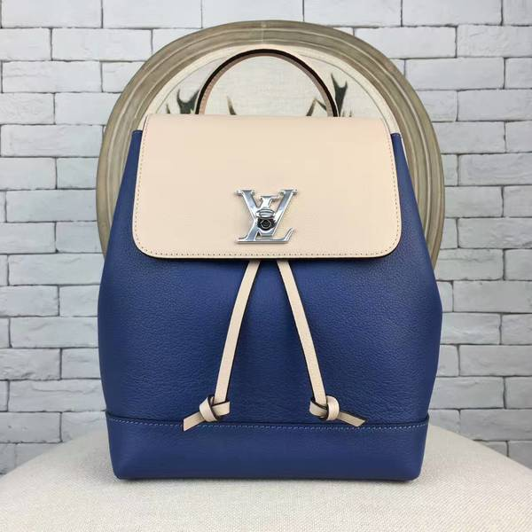 Louis Vuitton LOCKME BACKPACK 41817 Blue&Offwhite