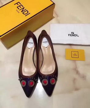 Fendi Ballerina Leather FD173 Black