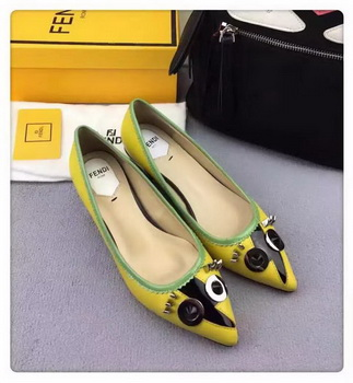 Fendi Ballerina Leather FD173 Yellow