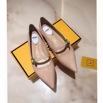 Fendi Patent Leather Ballerina FD174 Apricot