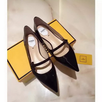 Fendi Patent Leather Ballerina FD174 Black