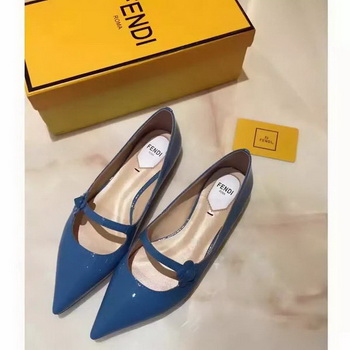 Fendi Patent Leather Ballerina FD174 Blue