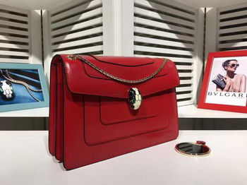BVLGARI Medium Shoulder Bag Calfskin Leather BG2281 Red