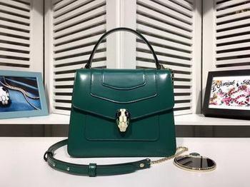 BVLGARI Serpenti Forever Bag Patent Leather BG2280 Green