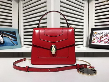 BVLGARI Serpenti Forever Bag Patent Leather BG2280 Red