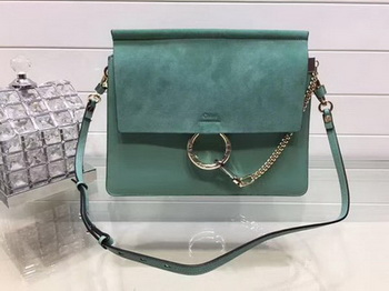 Chloe Faye Shoulder Bag Suede Leather C33569 Green