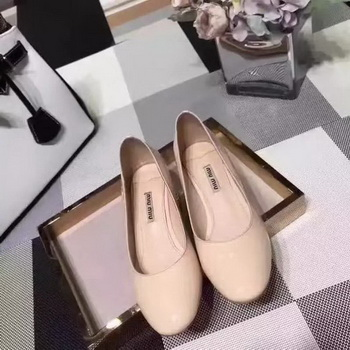 miu miu Leather 50mm Pump MM548 Apricot