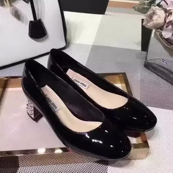 miu miu Leather 50mm Pump MM548 Black