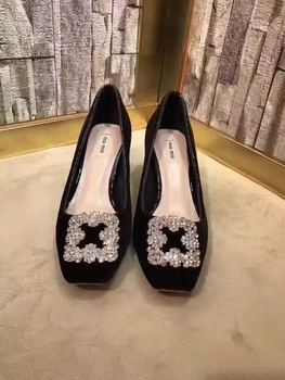miu miu Suede Leather 60mm Pump MM547 Black