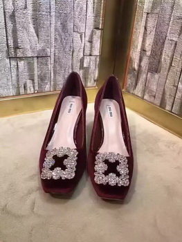 miu miu Suede Leather 60mm Pump MM547 Wine