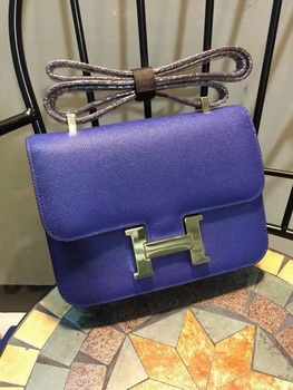 Hermes Constance Bag Calfskin Leather H9978 Blue