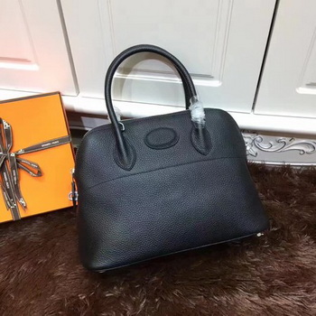 Hermes Bolide 31CM Calfskin Leather Tote Bag B3302 Black