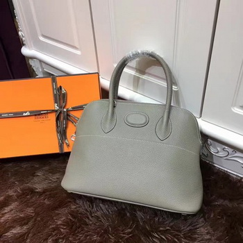 Hermes Bolide 31CM Calfskin Leather Tote Bag B3302 Grey