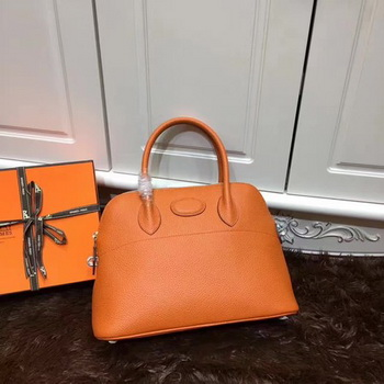 Hermes Bolide 31CM Calfskin Leather Tote Bag B3302 Orange