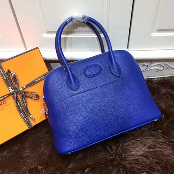 Hermes Bolide 31CM Calfskin Leather Tote Bag B3302 Royal