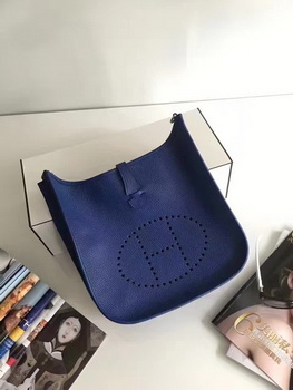 Hermes Evelyne 30cm Messenger Bag E3301 Blue