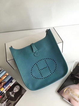 Hermes Evelyne 30cm Messenger Bag E3301 Light Blue