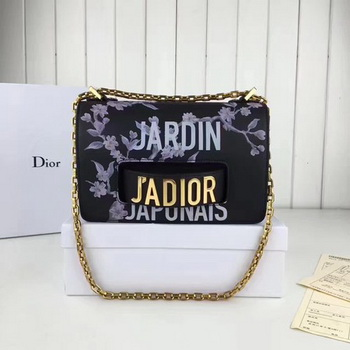 Dior JAdior Flap Bag Calfskin Leather CD66586 Black