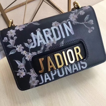 Dior JAdior Flap Bag Calfskin Leather CD9000 Black