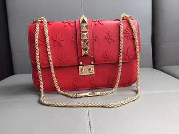 Valentino Garavani Starstudded Shoulder Bag VT487343 Red