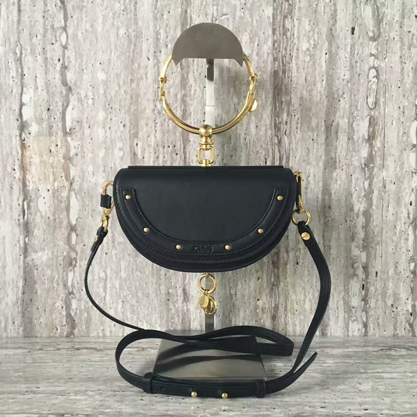 Chloe Nile Calf Leather Shoulder Bag A03372 Black