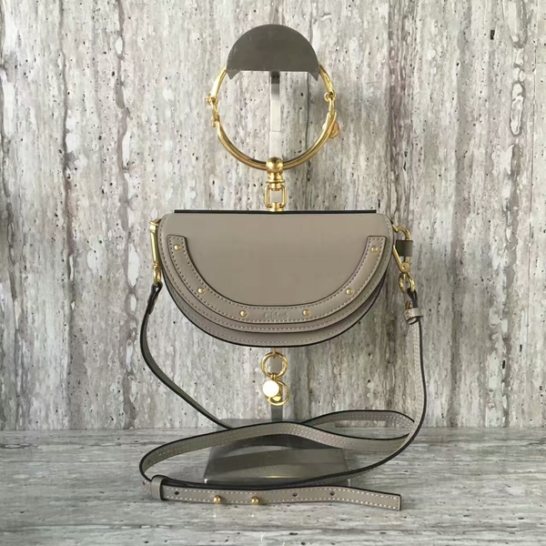 Chloe Nile Calf Leather Shoulder Bag A03372 Grey