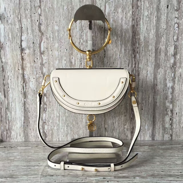 Chloe Nile Calf Leather Shoulder Bag A03372 White